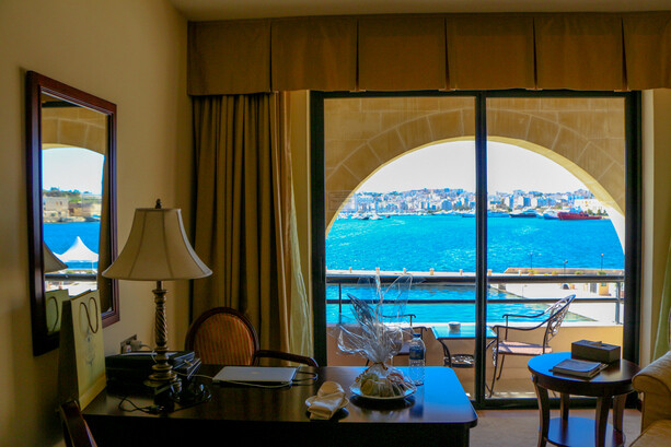 Habitación con vistas al mar del Grand Hotel Excelsior La Valletta Malta