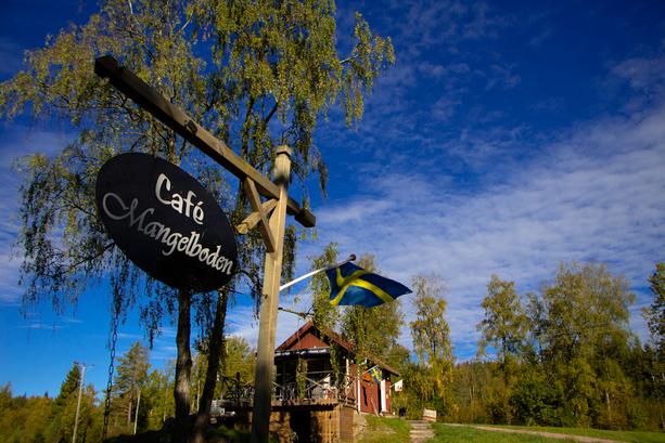 Café Mangelboden en Ramoa, probablemente el café más pequeño de Suecia