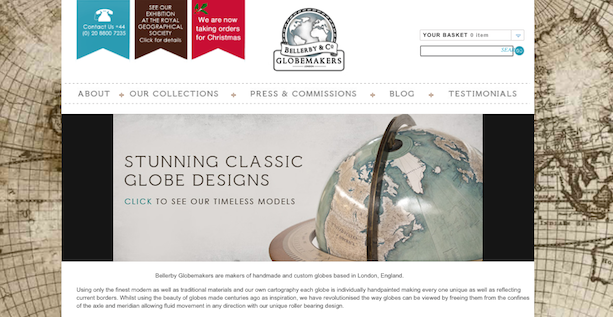 Página web de Peter Bellerby Globemakers