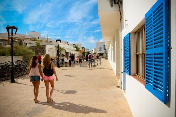 Paseando por Sant Francesc de Formentera
