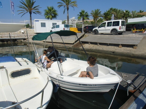 La pequeña embarcación que condujimos