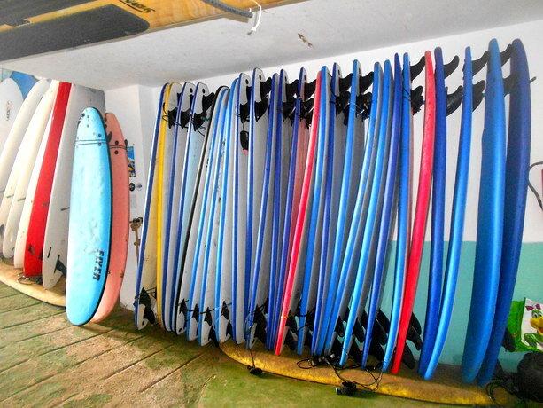 Las tablas que nos esperaban en el garaje de Calima Surf