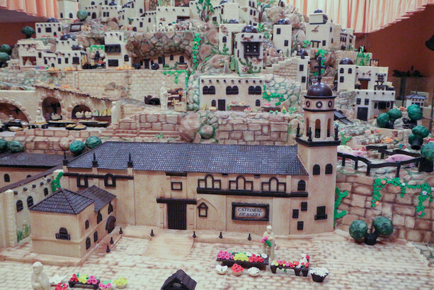 Catedral de Baeza en Belén de Chocolate de Artesanos Galleros en Rute