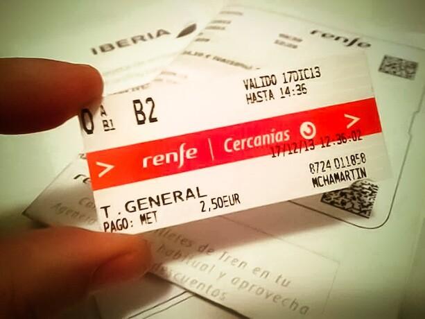Billete RENFE Cercanías Madrid Aeropuerto Barajas