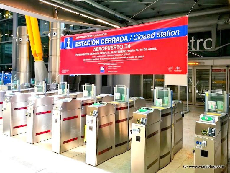 Metro de Madrid, Estación Aeropuerto Barajas, Línea 8