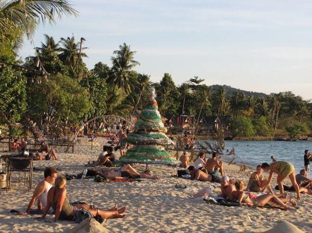 Navidad en Tailandia Playa Isla de Koh Chang