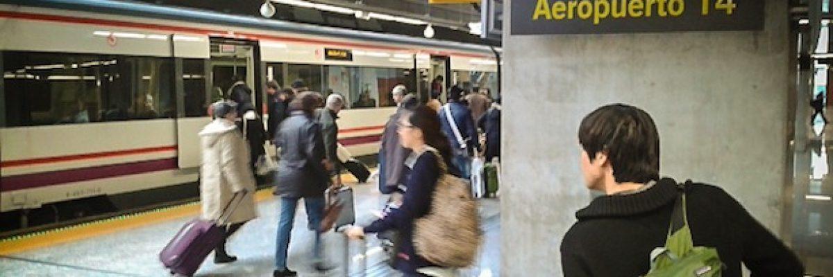 Cómo ir en tren del Aeropuerto de Barajas al centro de Madrid