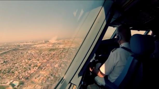 Vista Desde Cabina Aterrizando Airbus A340