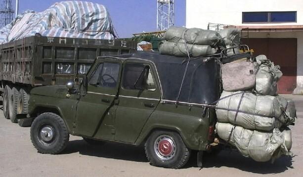 Jeep chino frontera Mongolia
