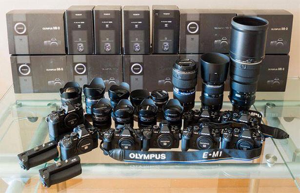El equipo de Olympus al completo