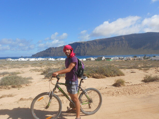 La mejor forma de descubrir La Graciosa es en bici