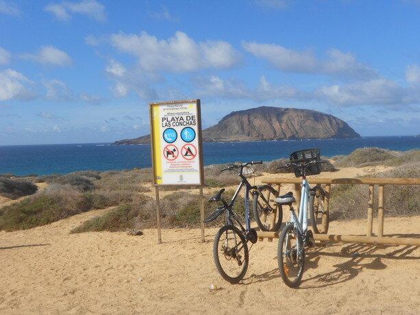 Aparcamiento para bicis de la playa de las Conchas