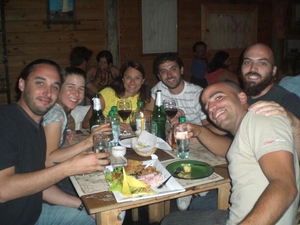 Con buenos amigos uruguayos en La Paloma, zona de veraneo cerca de Montevideo
