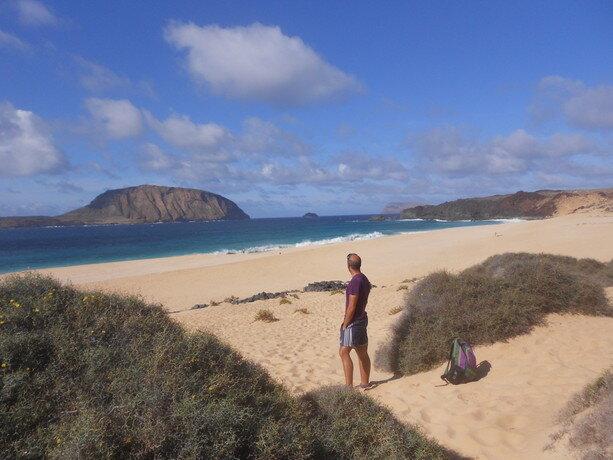 La playa de Las Conchas