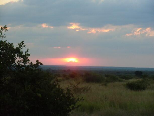 Atardecer en Kruger Park, Sudáfrica
