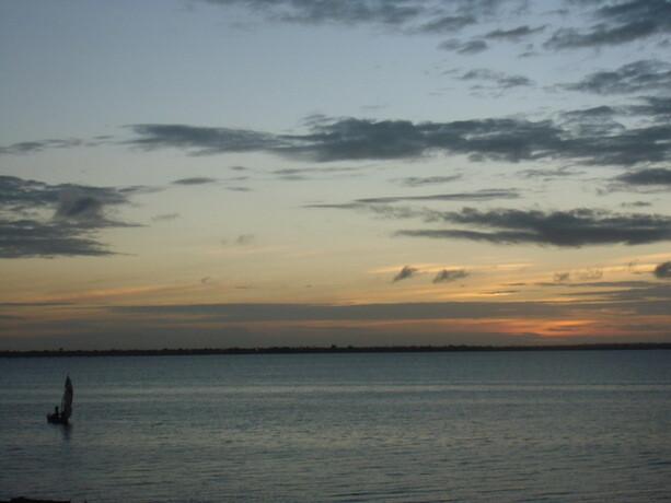 Vistas desde la costa en Isla de Mozambique
