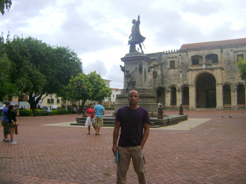 La estatua de Colón en Santo Domingo