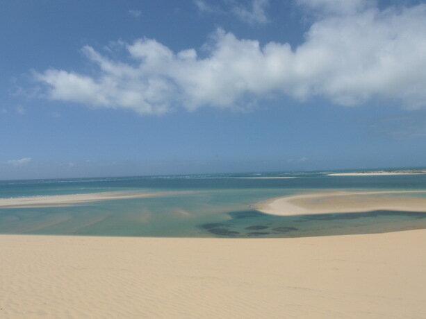 El bonito paisaje de Bazaruto en Mozambique