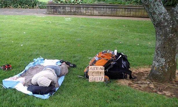 Durmiendo al aire libre en Nueva Zelanda
