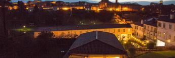 Vistas terraza habitación Hotel Virxe da Cerca Santiago de Compostela