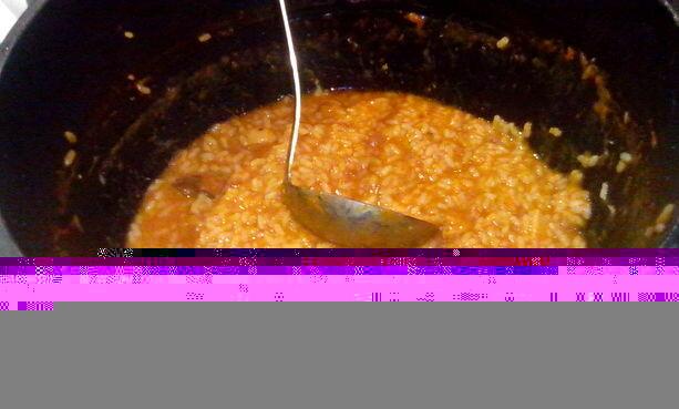 El riquísimo arroz de pato, setas y trufas de La Cigrona