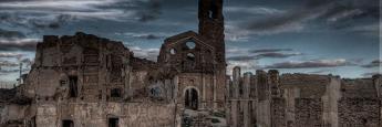Belchite viejo. Fotografía de Cerrado por Abandono donde además podréis saber más sobre el lugar.
