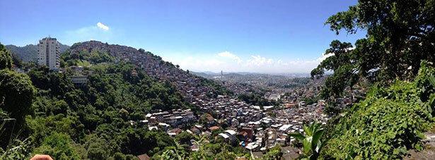 Una de las favelas de Rio de Janeiro