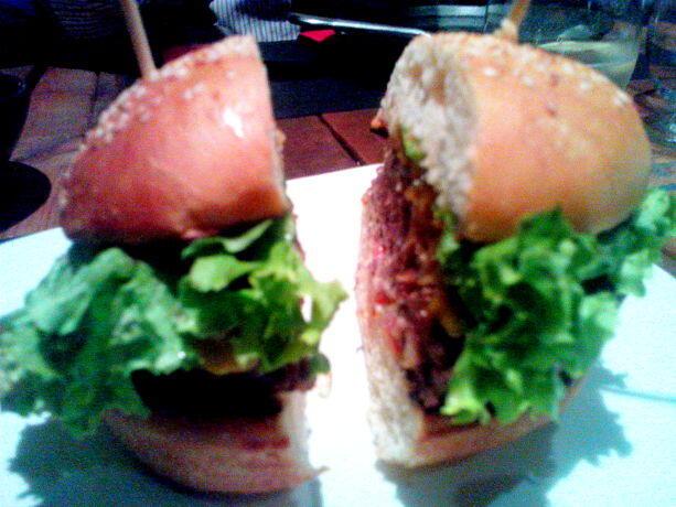 La hamburguesa de vaca