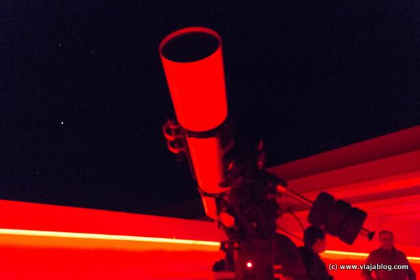 Telescopio del Observatorio 1 en Centro Astronómico de Tiedra de Valladolid