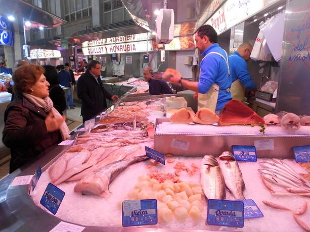 Los pescaderos del mercado central