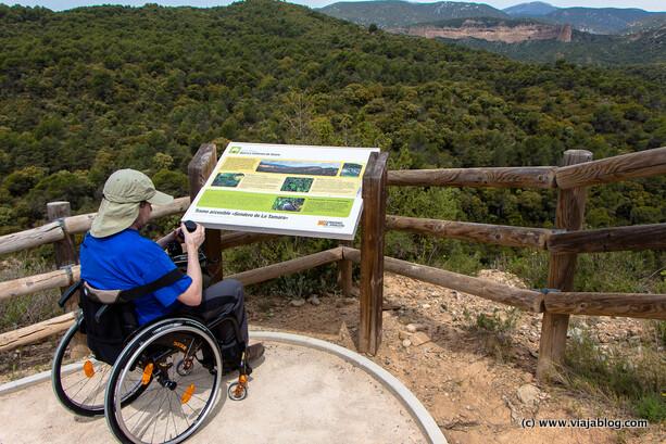Sendero accesible, Sierra de Guara (Aragón)