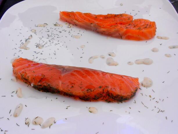 El salmón marinado es una de las especialidades de la casa