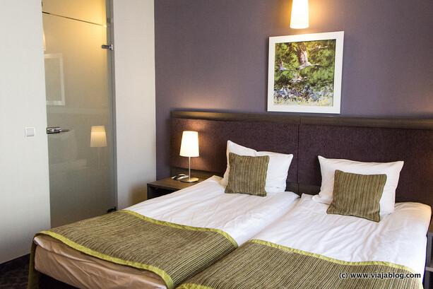 Camas en habitación Metropol Hotel en Varsovia