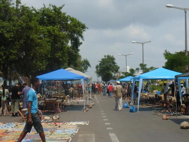 El mercado de artesanía de Maputo