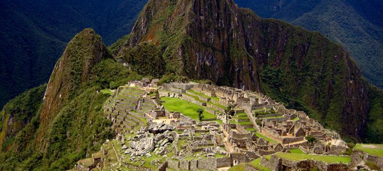 La clásica imagen de las ruinas de Machu Picchu
