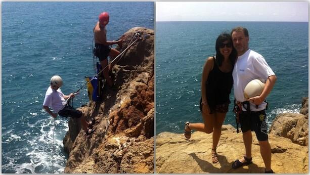 Coasteering en Benicassim, rappel, la bella y el feo