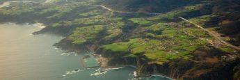 Despegando de Asturias, panorámica de la costa desde el avión