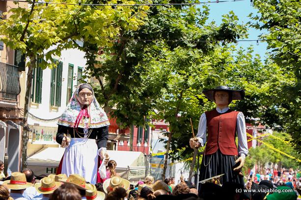 Jaume y Roser, Gigantes en Sant Jaume, Es Castell, Menorca