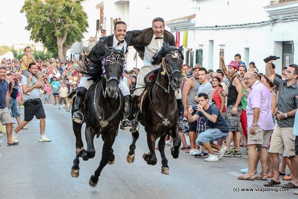 Carrera de caixers, Fiestas de Sant Jaume, Es Castell, Menorca