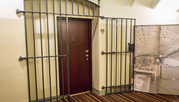 Puerta de acceso a una habitación del Hotel Best Western Premier Katajanokka en Helsinki