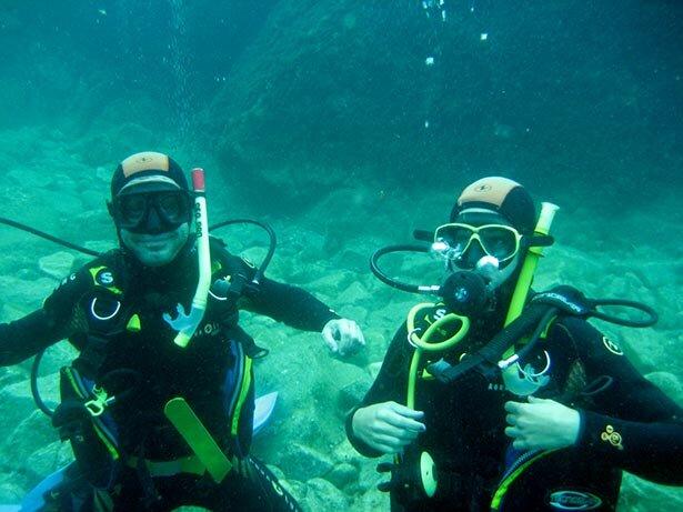 Primera inmersión en las aguas del Mediterráneo