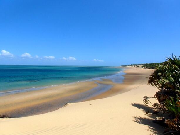 Las playas desiertas de la isla de Bazaruto