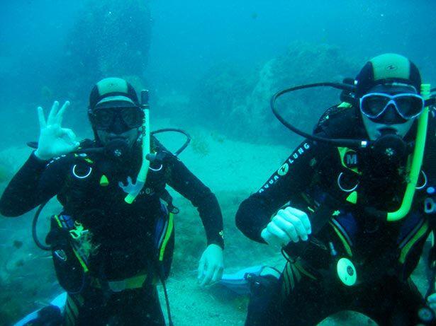 Tratando de controlar la flotabilidad bajo el agua