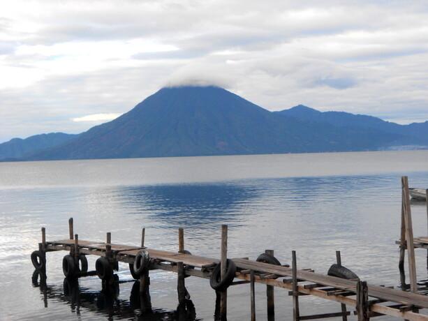 Así nos esperaba el volcán San Pedro al amanecer