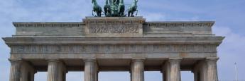 La famosa Puerta de Brandenburgo