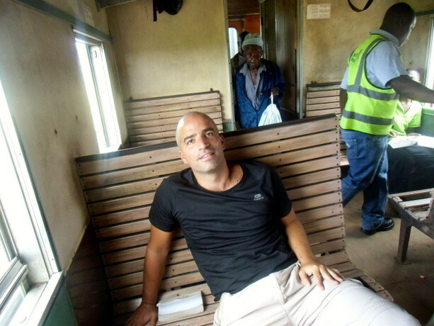 Los cómodos asientos del tren