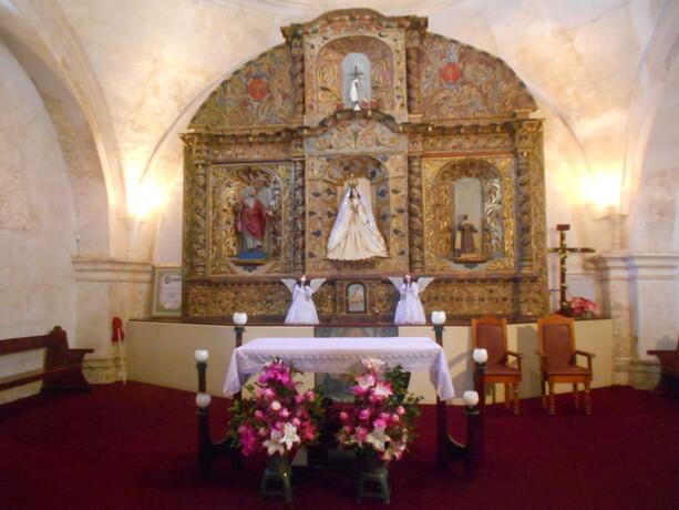 Interior de la ermita de la Concepción, de 1524