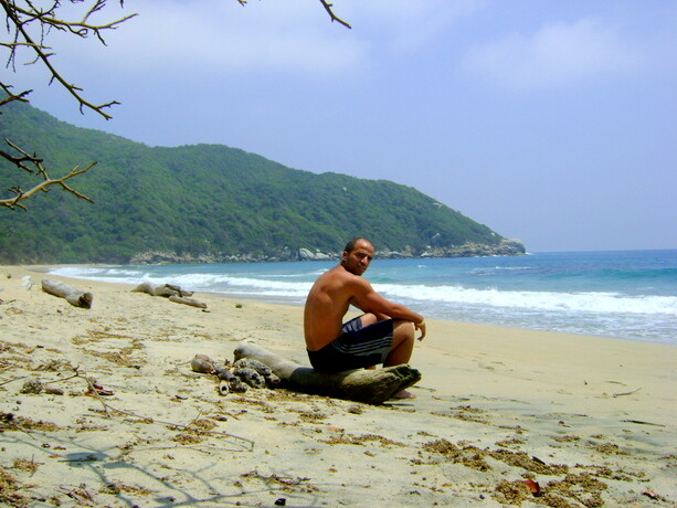 Mi playa solitaria de Tayrona, Colombia