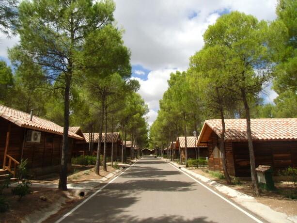 Las calles de la zona de cabañas