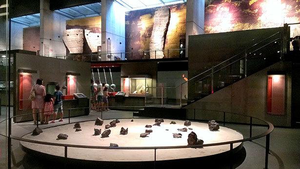 Sala de exposiciones permanentes de CosmoCaixa